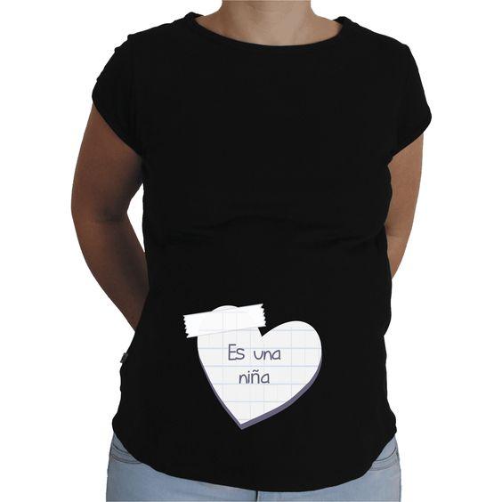 Camiseta para embarazada Divertida - Posit es una niña.