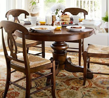 Tivoli Extending Pedestal Dining Table Potterybarn 63