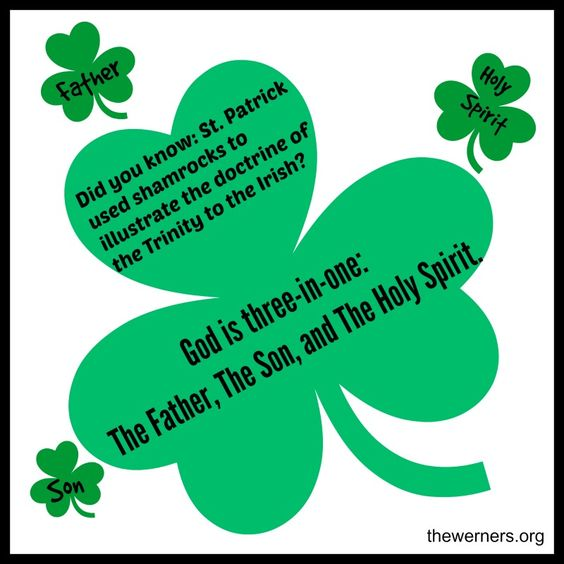 (God is three-in-one: The Father, The Son, and The Holy Spirit) to the Irish.