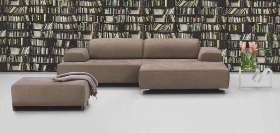 Ultsch Modell Lissabon Eckgarnitur in Stoff ( Lederoptik ) PG 1 - designer couch modelle komfort