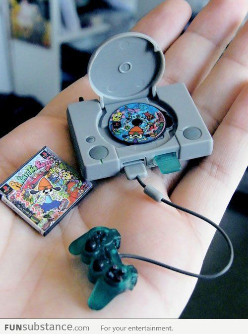 Tiny PlayStation. I WANT THAT ITS SO CUTE!! --- VISIT http://dromelabs.com