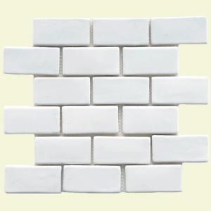 Cobble 12 in. x 12 in. White Ceramic Subway Mesh-Mounted Mosaic Tile-FDXCSW at The Home Depot