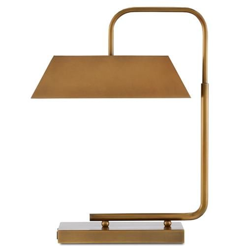 Hamilton Modern Classic Antique Gold Brass Metal Table Lamp Metal Table Lamps Nickel Table Lamps Table Lamp