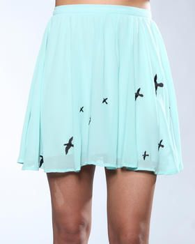 Lucca Couture - Sheer Bird Print Skirt >> Lovely!