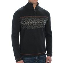Meister Tyler Sweater - Wool Blend, Zip Neck (For Men) in Black/Taupe/Chili - Closeouts