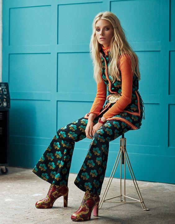 Xavi Gordo Captures A Smoldering Lottie Moss For Elle Russia November 2017