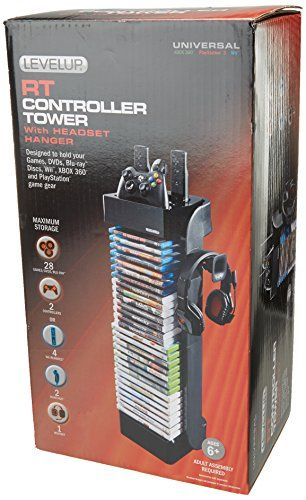 LevelUp Evolution Controller and Game Storage Tower Black...