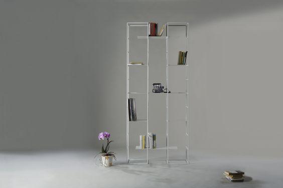 Modular shelving bookcase.