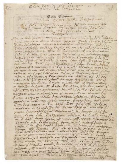 Codex Huygens, fol. 87   V. Perspective   The Morgan Library & Museum
