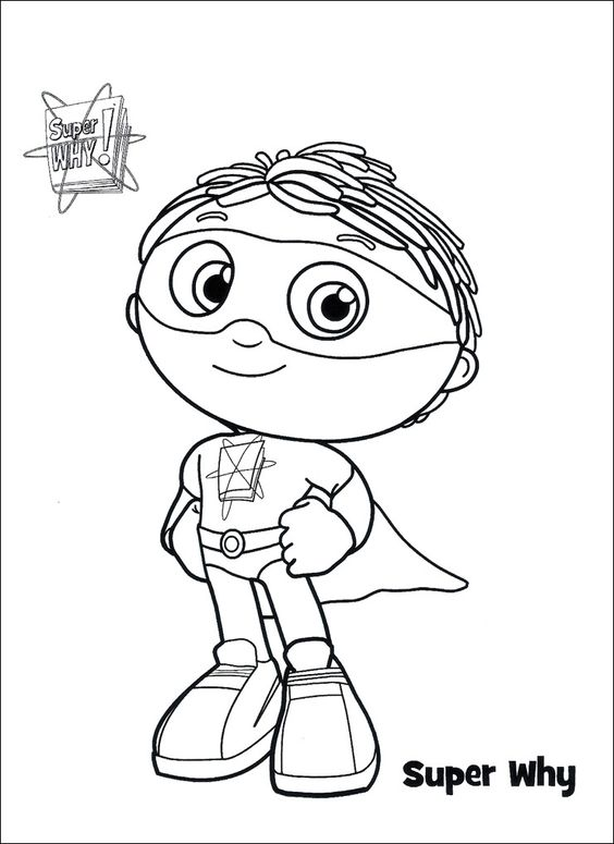 It's just a picture of Magic Super Why Printables