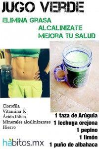 Jugo verde: Elimina grasa   Hábitos Health Coaching