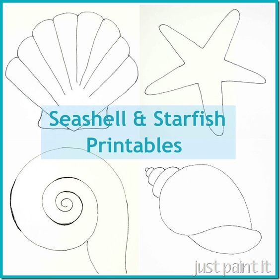 Seashell Starfill Printable