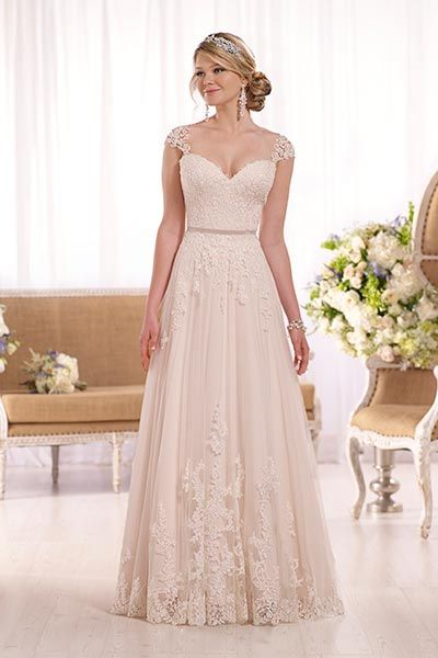 Wedding gown by Essense of Australia.Check out more gorgeous dresses in our Essense of Australia gown gallery ►