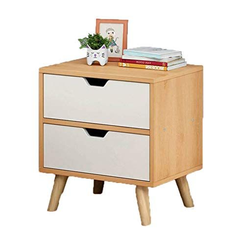 Liuwordd Simple Solid Wood Leg Side Cabinet Bedroom Bedside Locker