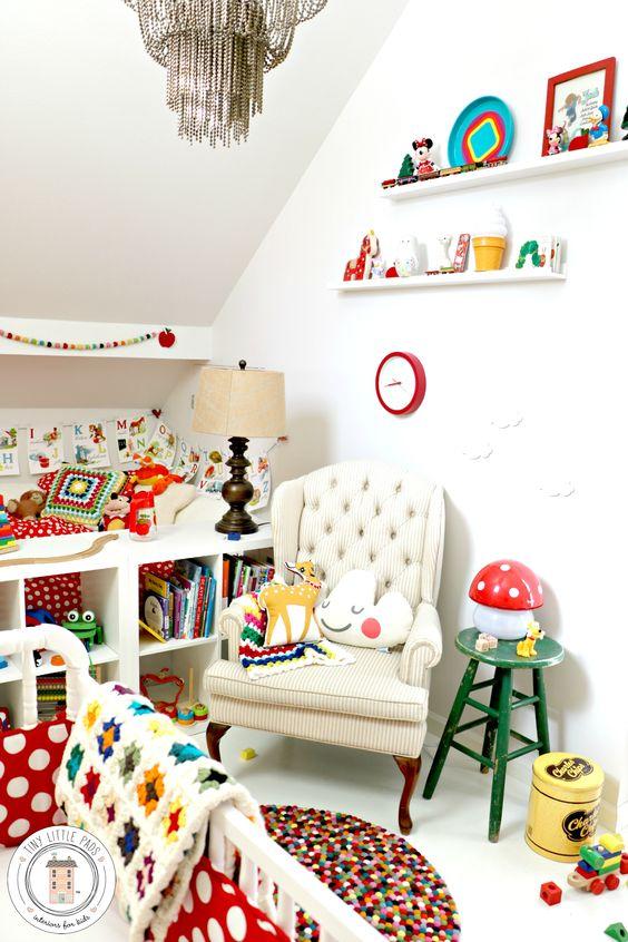 chambre d'enfant retro