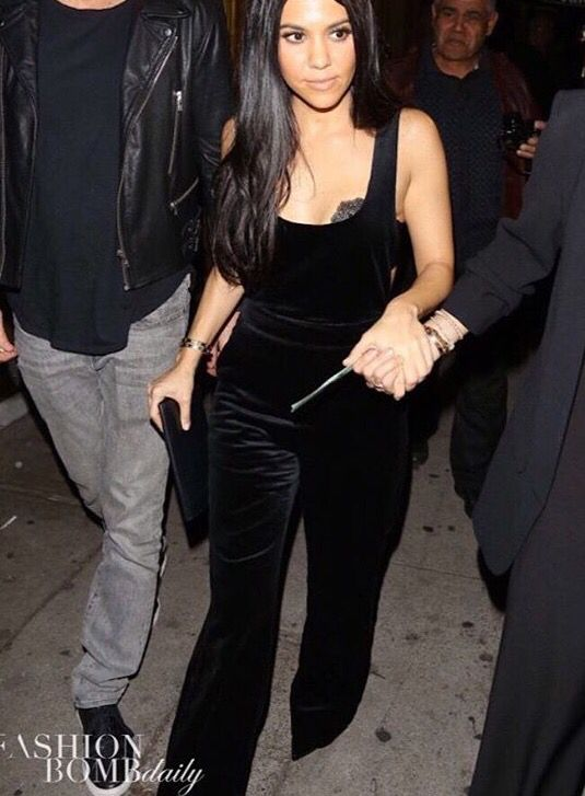 @fashionbombdaily just posted Kourt K in this gorgeous satin velvet overall/jumpsuit from @topshop