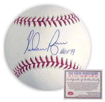 Nolan Ryan Texas Rangers Hand Signed Rawlings Mlb Baseball With Hof 99 Inscription By Nolan 129 99 Thi Major League Baseball Mlb Baseball Baseball Equipment