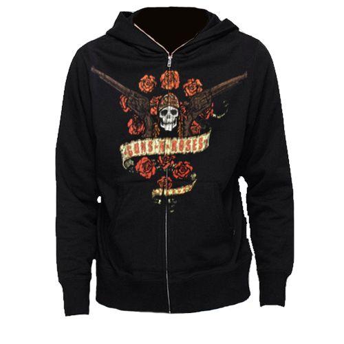 Guns N' Roses Axl's Bouquet Zip Hoodie - Mens