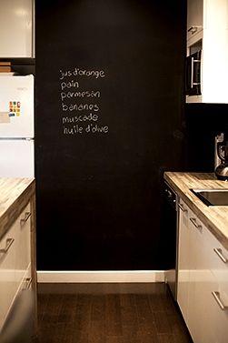 tableau noir cuisine idale pour noter vos courses en temps relle - Tableau Pour Cuisine Pour Courses