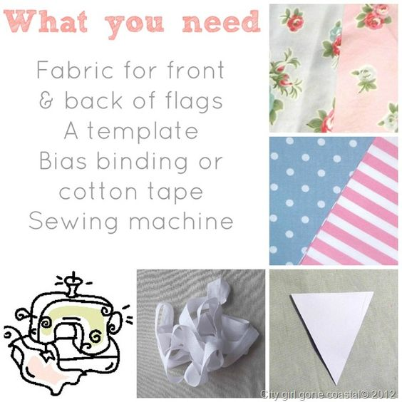 what you need to make bunting