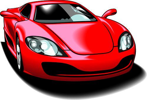Colored Sport Car Elements Vector Pinterest Sports Cars