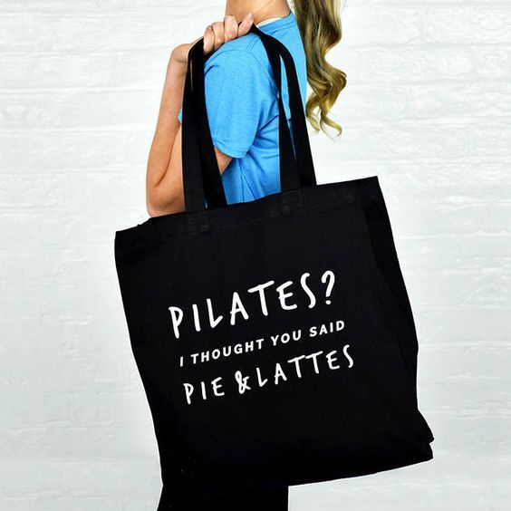 A fun and useful pilates and gym bag. . Love pilates? This tote bag is the…