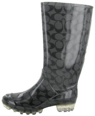Coach Pixy Womens Rain Boots Wellies Signature Rubber Waterproof ...