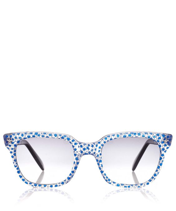 Sheriff and Cherry | Liberty Blue Marco G11 Double Star Wayfarer Sunglasses | Sunglasses by Sheriff and Cherry | Liberty.co.uk