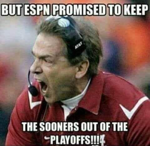 Too Late Sooners Alabama Memes Oklahoma Football
