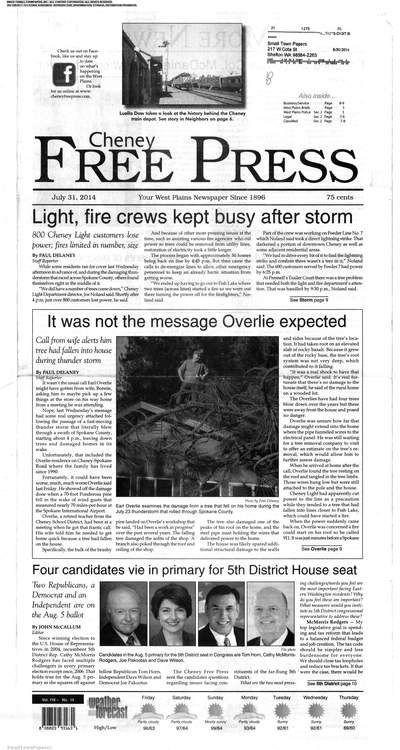 cheney Free Press (Washington) newspaper archive - http://cfp.stparchive.com/