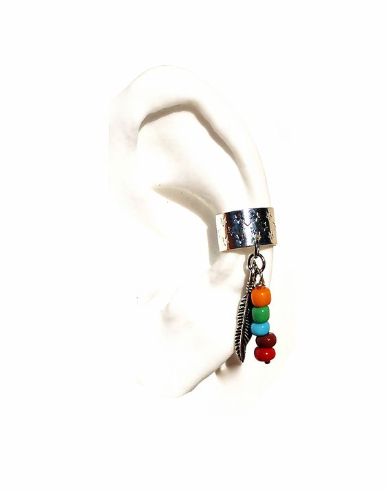 Tribal Silver or Gold Ear cuff No piercings needed.
