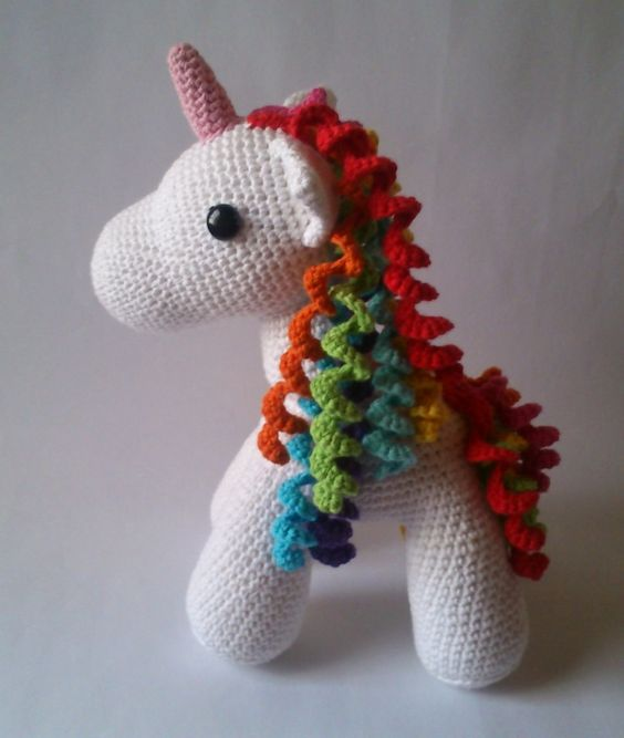 Unicorn Amigurumi Yarn Yard : Ponies, My little pony and Crochet unicorn on Pinterest
