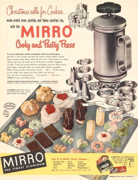 Mirro Cooky and Pastry Press advertisement