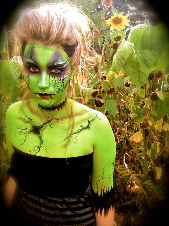 Crazy faces, Green and Halloween costumes on Pinterest