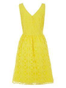 Geo Lace Dress Bridesmaid Dress #yellow