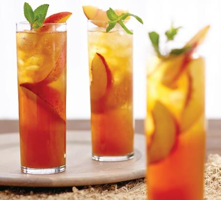 Peach ginger iced tea mocktail recipe worldmarket for Iced tea cocktail recipes