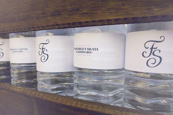 botellas de agua personalizadas para boda