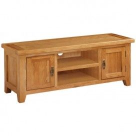 Canterbury Oak Large Lowline TV Unit - This is a back to basic rectangle TV unit which is larger than large.