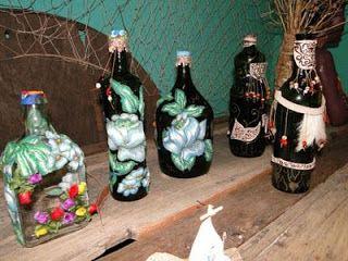 Pingos di Arte: Arte na garrafa de vidro
