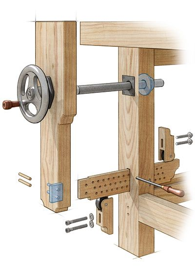 homemade leg vise - Google Search | Woodworking: Workbench | Pinterest ...
