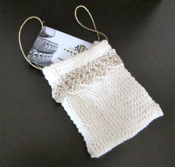 Gift Wrap Knitting Patterns Free pattern, Gift card holders and Christmas g...