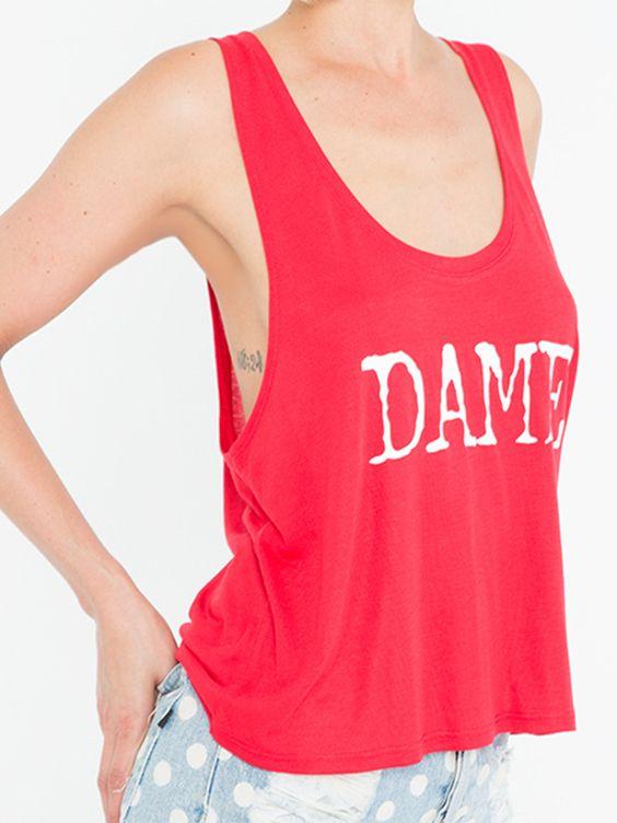 Red DAME Crop Tank