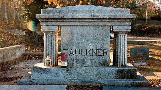 Perhaps the most decorous homage a Faulknerphile can pay is a visit to his grave, where the standard rite is to drink a swig of bourbon and leave the bottle as a gif