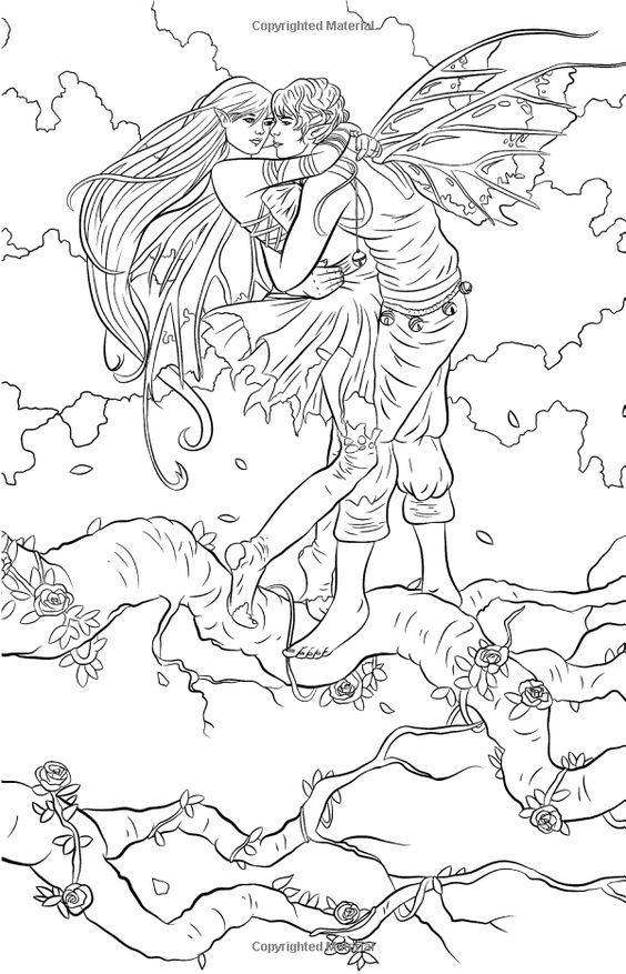 Coloring pages fantasy and coloring on pinterest for Mythical coloring pages for adults