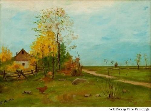 Las primeras obras de Pinturas Edward Hopper expuesto en Marcos Murray Fine en Nueva York