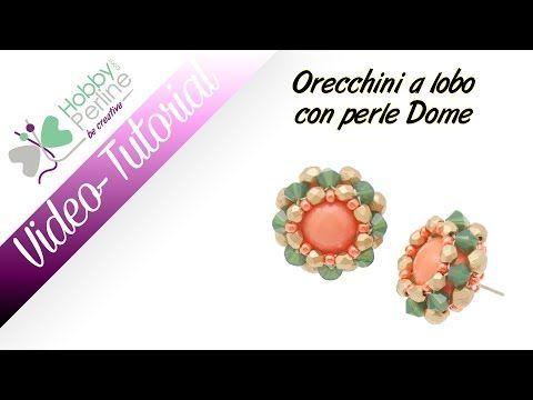 VIDEO ORECCHINI A LOBO CON PERLINE DOME - HobbyPerline.com