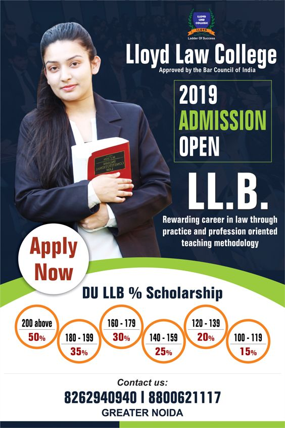 Admission Open Ll B 3 Years Apply Based On Your Du Llb Entrance