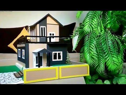 طريقة صنع بيت من الكرتون روعة How To Make A Beautiful Mansion House From Cardboard Youtube Candy Art Home Home Decor