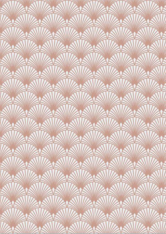 Papier Peint Expanse Sur Intisse Gatsby Rose Gold Papier Peint