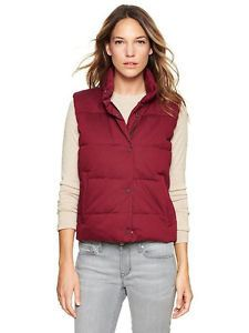 New Gap Red Quilted Puffer Vest XS Petite | eBay
